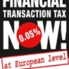 Financial transaction tax now! logo