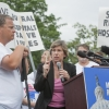 Randi Weingarten, President of AFT, at the protest in Washington