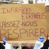 Los enfermeros son asfixiados: ¡Dejadnos respirar! Fotografía: doubichlou14