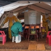 Health workers in Sierra Leone, Ebola epicentre