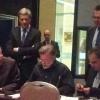 Signature de l'accord mondial sur la santé et la sécurité